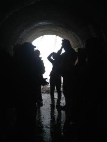 The tank entrance